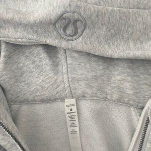 lululemon oversized half zip scuba hoodie